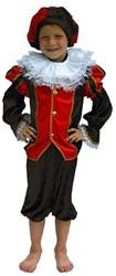 Zwarte Piet Kind Luxe Zwart/Rood