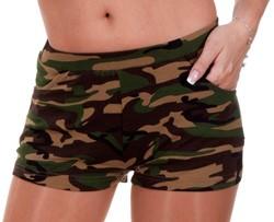 Camouflage Hotpants voor dames