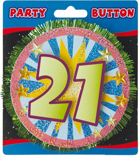 3D Button 21 Jaar