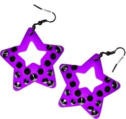 Oorbellen Ster Neon Paars