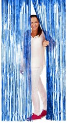 Deurgordijn Folie 2x1mtr Blauw