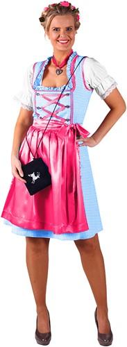 Dirndljurk Kira Turquoise/Pink