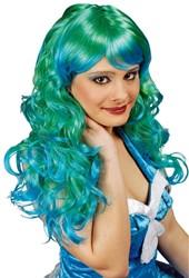 Damespruik Zeemeermin Groen-Blauw