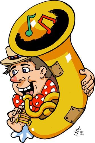 Wanddeco Trombone