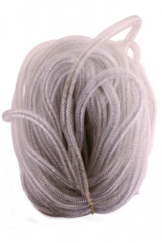 Decoslang Tube Wit-Zilver Ø16mm - 2,5m