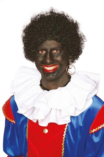 Zwarte Piet Pruik Kleine Krul