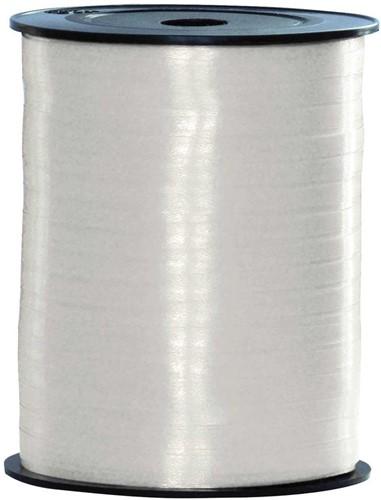 Cadeaulint Wit 10mm Breed, 250m op Rol