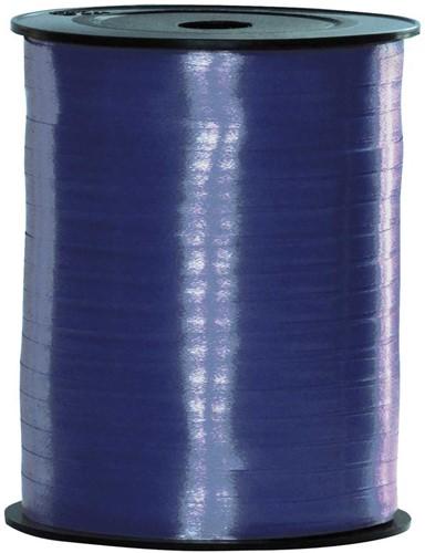 Cadeaulint Donkerblauw 5mm Breed, 500m op Rol