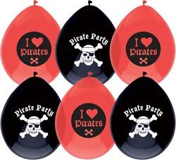 Ballonnen Piraat 6 stuks