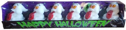 Kaarsjes Spook 6 stuks