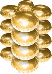 Cluster Folieballonnen Rond Metallic Goud 10st.