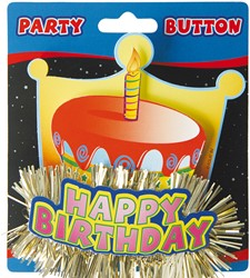 3D Button Happy Birthday