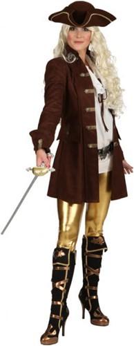 Dames Piratenjas Luxe Bruin