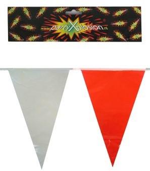 Vlaggenlijn Rood/Wit 10mtr