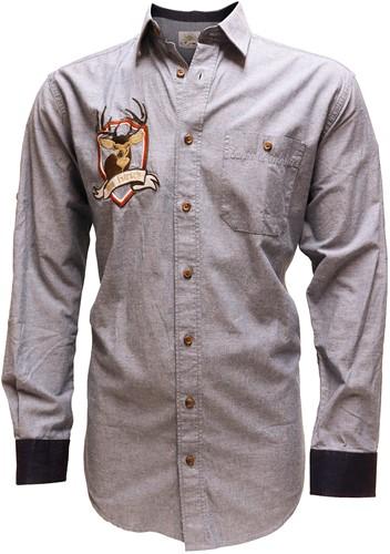 Tiroler Overhemd Denim Blauw (100% katoen)