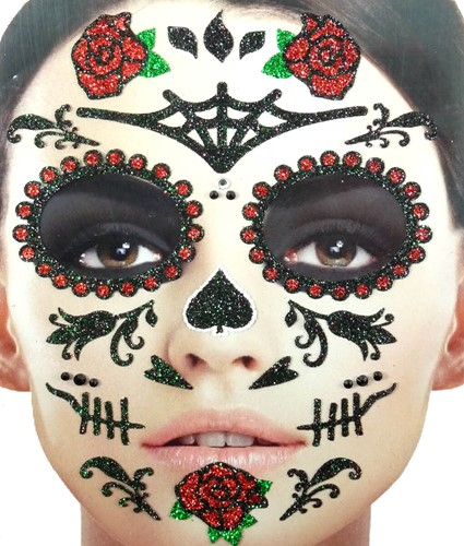 Gezicht Stickers Day of the Dead