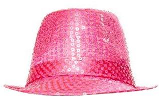 Hoedje Justin Pailletten Pink