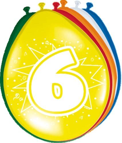Ballonnen 6 jaar 8st