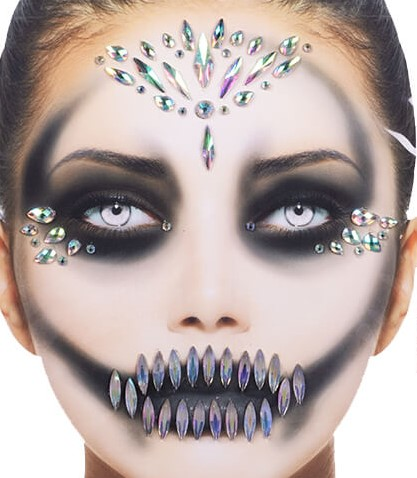 Halloween Gezicht Stickers Queen Pearl Luxe