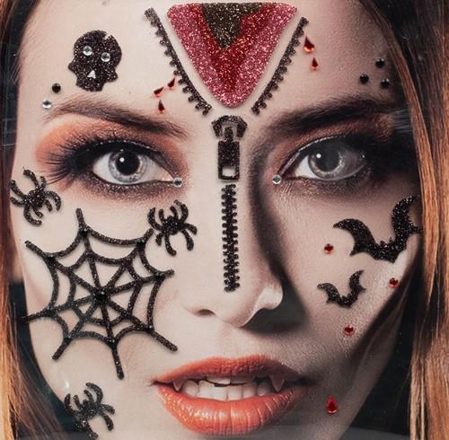 Halloween Gezicht Stickers Bloed