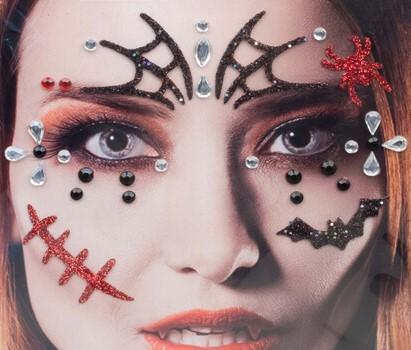 Gezicht Stickers Halloween