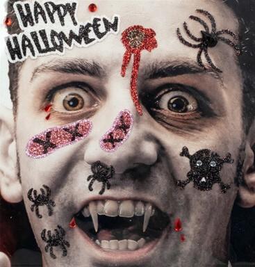 Halloween Gezicht Stickers Vampier