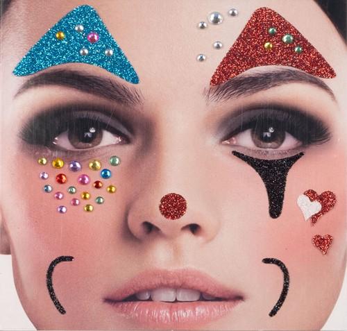 Gezicht Stickers Clown