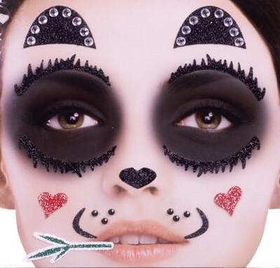 Gezicht Stickers Panda