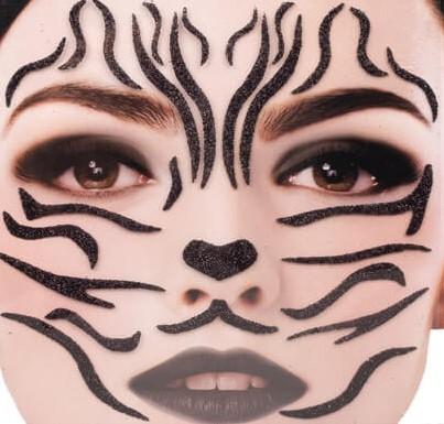 Gezicht Stickers Zebra