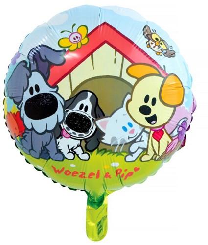 Folieballon Woezel en Pip 45cm