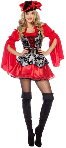 Piratenjurk Elegance Rood