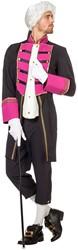 Herenkostuum Garde Markies Zwart/Pink