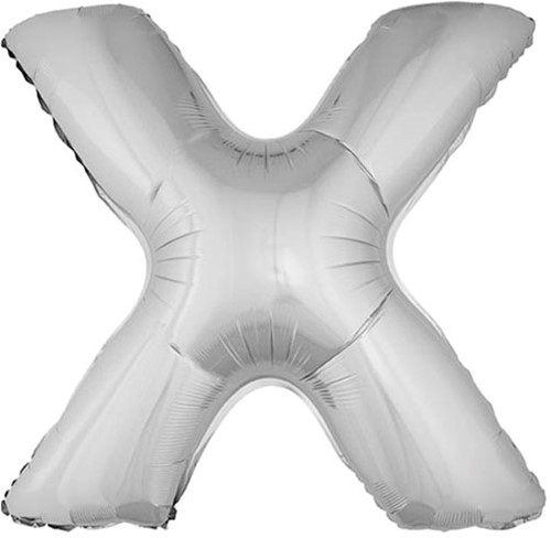 Folieballon Letter X Zilver 100cm