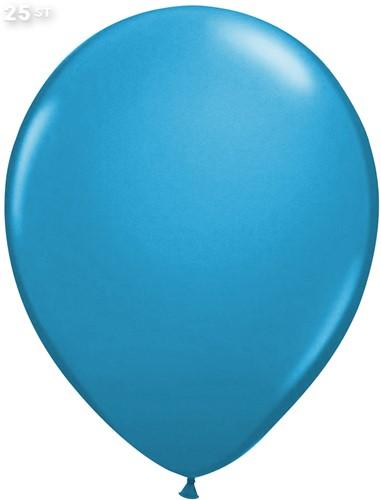 Ballonnen Metallic Lichtblauw 35cm - 25 stuks