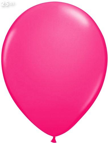 Ballonnen Metallic Pink 35cm - 25 stuks