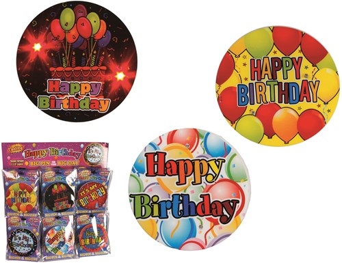 Button Lichtgevend LED Happy Birthday