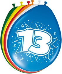 Ballonnen 13 jaar 8st