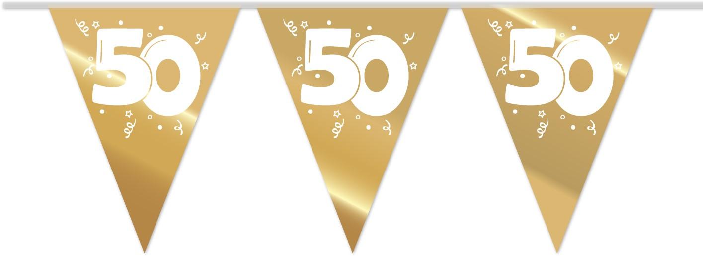 Vlaggenlijn 50 Jaar Gouden Bruiloft 10m