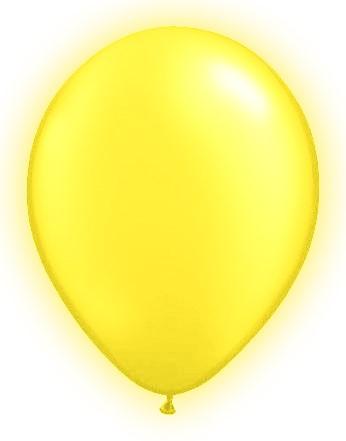 LED Ballonnen Geel (5 stuks)