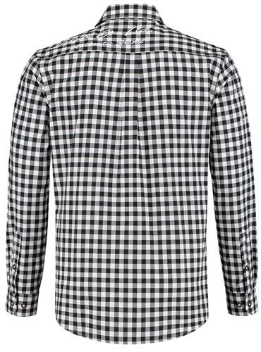 Tiroler Trachtenhemd Zwart/Wit Luxe (100% kat)  -2