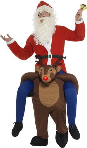 Piggyback Kostuum Rendier Rudolf