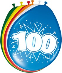 Ballonnen 100jaar 8st
