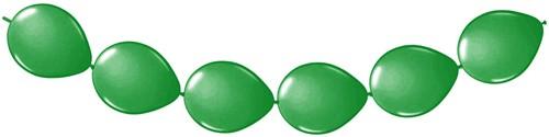 Doorknoopballonnen 8st. Groen