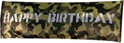 Banner Happy Birthday Camouflage