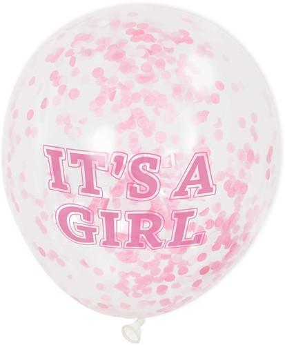 Confetti Ballonnen It's a Girl (6st)