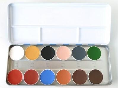 Aquacolor Kryolan Palet B 12 kleuren