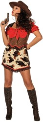 Dameskostuum Cowgirl Lady Red