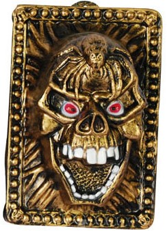 Wanddeco Skull Goud 35X24cm