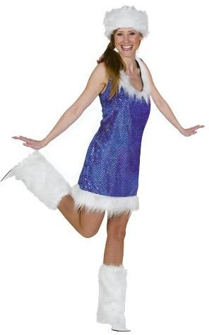 Glitterjurkje Blauw