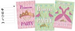 Uitnodigingen Princess 6 stuks